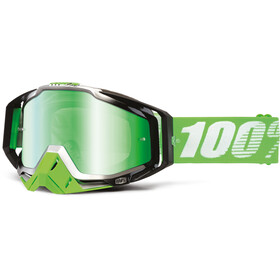 100% Racecraft Anti Fog Mirror Goggles grön